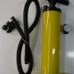 Hand pump for inflatable boats c/w guage