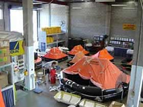 Liferaft servicing at Marinesafe Australia