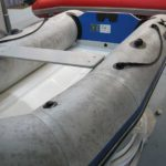 Detailing of inflatable boat before shot