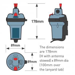 Ocean Signal EPIRB1 dimensions