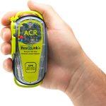 ACR RescQlink + PLB with inbuilt GPS in hand