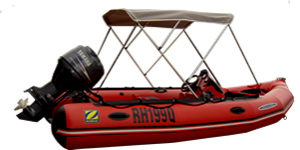 Bimin fitted to inflatable boat
