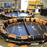 Liferaft 65 person open reversable