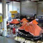 Liferaft servicing at Marinesafe Australia