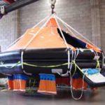 Bi-annual davit testing of davit launch liferaft