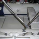 Bimini mounts for inflatable boat