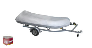 Boat cover for inflatable boat