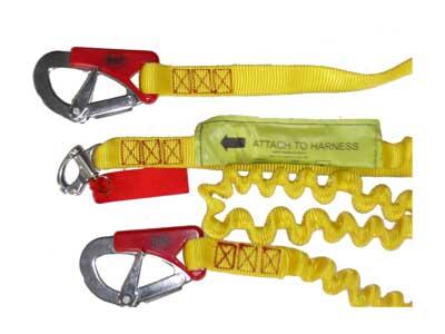 Lifejacket safety tether 3 hook