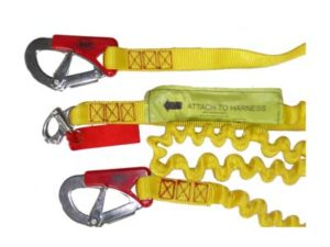 Safety tether 3 hook for inflatable lifejacket with quick release