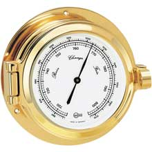 Brass barometer for marine survey