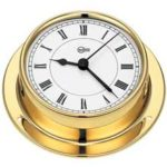 Brass clock for marine survey