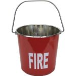 Stainless steel fire bucket for marine survey
