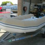 Inflatable boat tube covers in boat hooding fabric surf colour