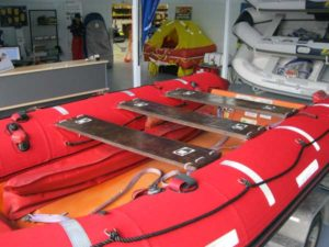 SOLAS rescue boat after repairs