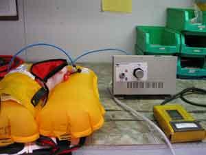 Inflatable lifejacket digital testing