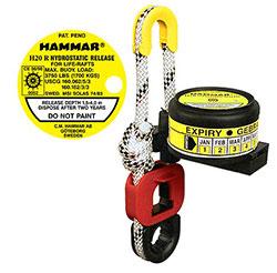 Liferaft Hammar hydrostatic release