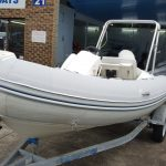 Inflatable boat tube covers in Marlin Grey