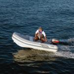 AB Lammina 9.5 AL inflatable RIB motoring