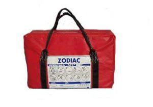 Zodiac hire liferaft in valise