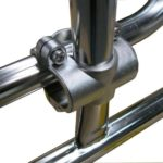 Stainless steel liferaft cradle rail mounting
