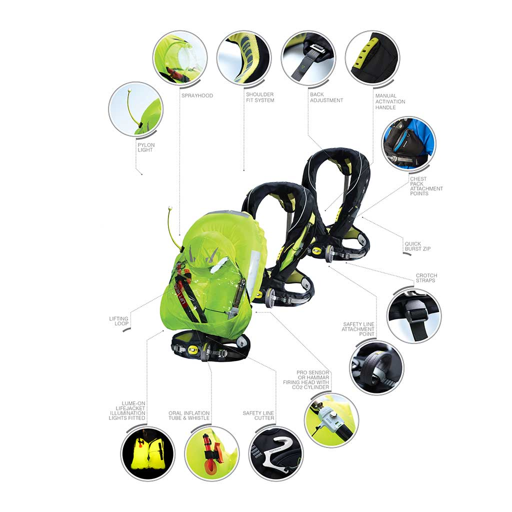 Exploded view Spinlock Deckvest 5D