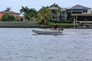 Aurora Master 300 inflatable boat with wooden floor