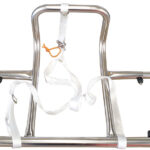 Stainless steel adjustable liferaft cradle