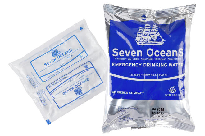 Seven Oceans liferaft water rations